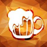 Polygonal beer mug Stock Images