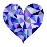 Polygonal blue heart vector. Isolated polygonal heart in blue tones - Eps10 vector graphics and illustration stock illustration