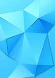 Polygonal blue triangle shapes vector abstract background template royalty free illustration