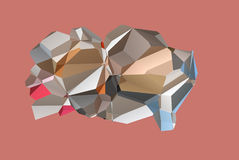 Polygonal brain abstract Stock Photos