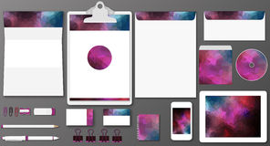 Polygonal branding mock up Stock Image
