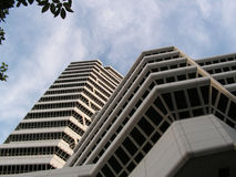 Polygonal building facade. Of the Concourse, Singapore. An architectural building Royalty Free Stock Image