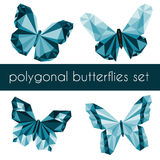 Polygonal butterflies Royalty Free Stock Photos