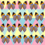 Polygonal butterfly pattern background Royalty Free Stock Images
