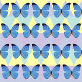 Polygonal butterfly pattern background Royalty Free Stock Photography