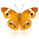 Polygonal butterfly on white background Stock Photos