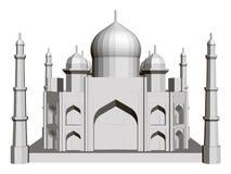 Polygonal byggande modell av Taj Mahal 3d Bekl?da besk?dar stock illustrationer