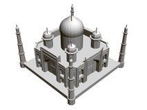 Polygonal byggande modell av Taj Mahal 3d Isometriskt besk?da ocks? vektor f?r coreldrawillustration stock illustrationer