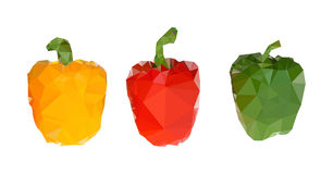 Polygonal  capsicums Illustration Royalty Free Stock Images