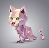 Polygonal Cat Royalty Free Stock Images