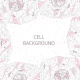 Polygonal cell background Royalty Free Stock Images