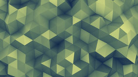 Polygonal chaotic surface 3D rendering. Polygonal chaotic surface. Abstract toned background. 3D render illustration Stock Image