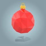 Polygonal christmas bauble Stock Photo