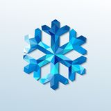 Polygonal christmas snowflake. Vector illustration Royalty Free Stock Images