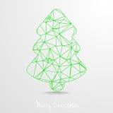 Polygonal Christmas Tree Stock Image