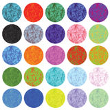 Polygonal circles set Royalty Free Stock Photography