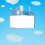 01 Polygonal city banner Stock Photos
