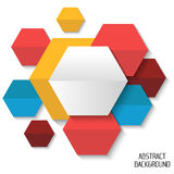 Polygonal colorful abstract background for creative design , ban Royalty Free Stock Photos