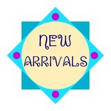 Polygonal colorful banner - New Arrivals. Polygonal colorful banner with `New Arrivals` text - Eps10 vector graphics and illustration Royalty Free Stock Photos