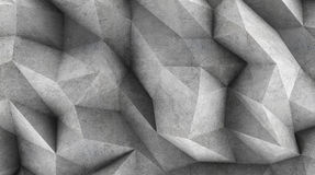 Polygonal concrete wall as wallpaper or background Royalty Free Stock Photo