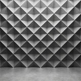 Polygonal concrete wall and glossy concrete floor Royalty Free Stock Photo