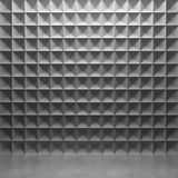 Polygonal concrete wall and glossy concrete floor Royalty Free Stock Photos