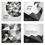 Polygonal covers design. Business templates for web sites, prints, notepad, CD covers and identity design. Stock Images