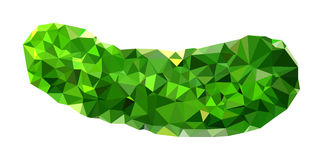 Polygonal Cucumber Illustration Royalty Free Stock Photography