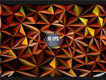 Polygonal 3D abstract background in orange gold color Royalty Free Stock Photos
