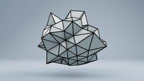 Polygonal 3D shape in studio Stock Photo