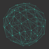 Polygonal 3d Vector Globe Royalty Free Stock Images