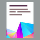 Polygonal decorational element Royalty Free Stock Photography