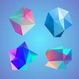 Polygonal decorational element Stock Image