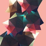 Polygonal decorational element Stock Images