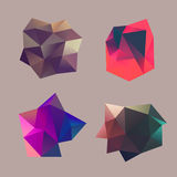 Polygonal decorational element Stock Photos