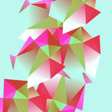 Polygonal decorational element Royalty Free Stock Images