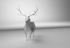 Polygonal deer Royalty Free Stock Photo