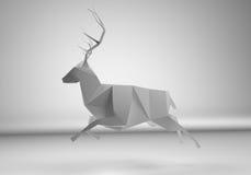 Polygonal deer Stock Photography