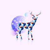 Polygonal deer logo Royalty Free Stock Photography