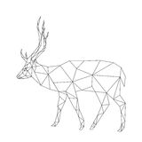 Polygonal deer Royalty Free Stock Images