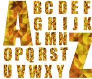 Polygonal design ABC Stock Image