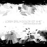 Polygonal design, abstract web template Stock Photography