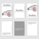 Polygonal design style letterhead and brochure for Stock Photos