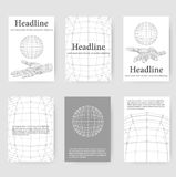Polygonal design style letterhead and brochure for Stock Images