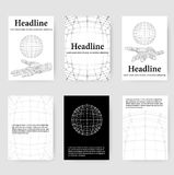 Polygonal design style letterhead and brochure for Stock Photo