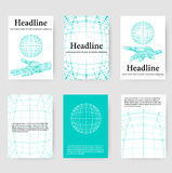 Polygonal design style letterhead and brochure for Royalty Free Stock Photo