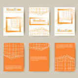 Polygonal design style letterhead and brochure for Stock Photography