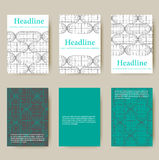 Polygonal design style letterhead and brochure. Mesh polygonal background. Scope of lines and dots. Ball of the lines connected to points. Molecular lattice Royalty Free Stock Photography