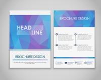 Polygonal designreklamblad och broschyrer Arkivfoton
