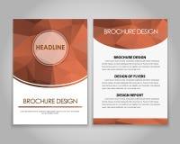 Polygonal designreklamblad och broschyrer Royaltyfria Bilder
